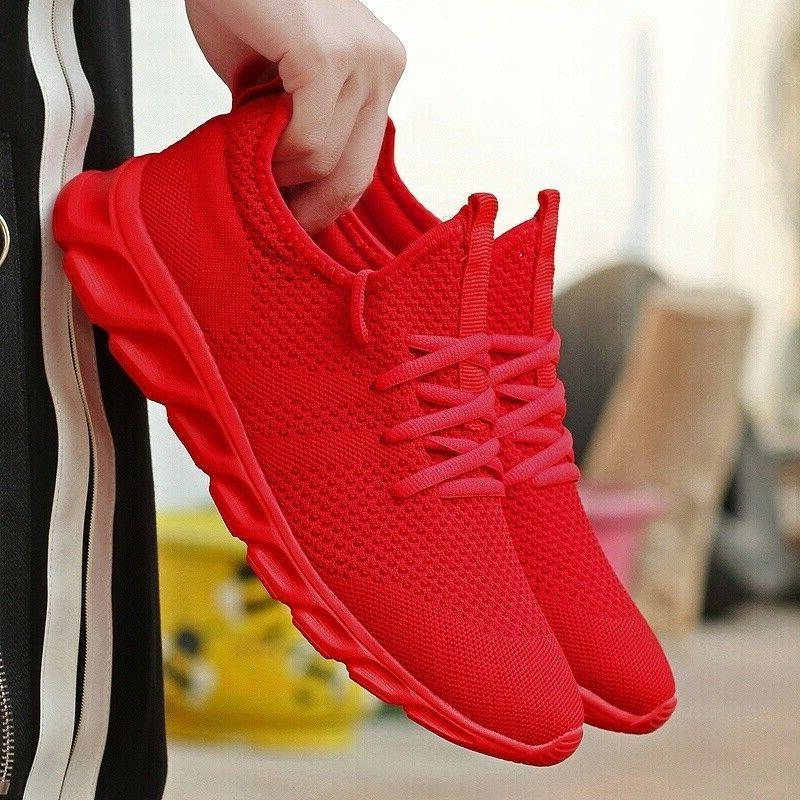 Men's Running Shoes Breathable Athletic Casual Sneakers Spor