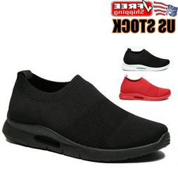 Men's Slip On Shoes Casual Breathable Lightweight Tennis Run